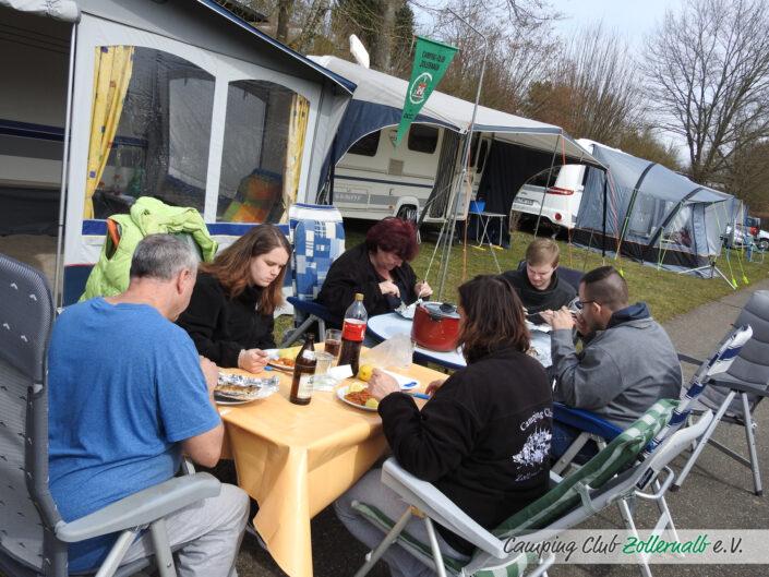 Anzelten des Campingclub Zollernalb e.V.