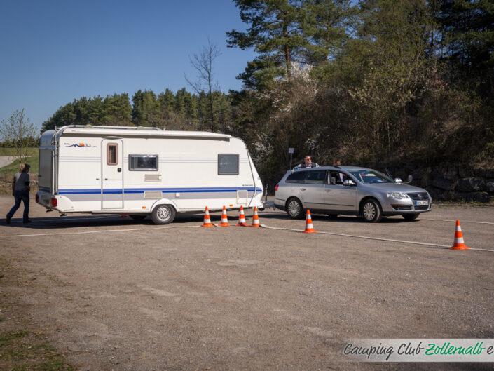 Caravan Übungsfahren